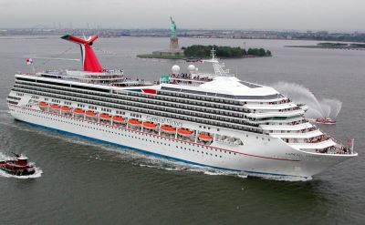 Carnival Cruise ship in New York harbor
