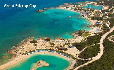 Great Stirrup Cay aerial